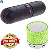 Supreno Wireless Bluetooth Speaker Certified Portable HiFi Wireless Bluetooth Pill Speaker TF Card MP3 Player Mobile Phone Handsfree Stereo Audio Mini Speaker Supported Devices With Latest Top Selling Mini Wireless LED Bluetooth Speaker Mini S10 Handsfree