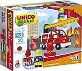 Unico COSTRUZIONE City-Pompieri Veicolo 20pz 8546
