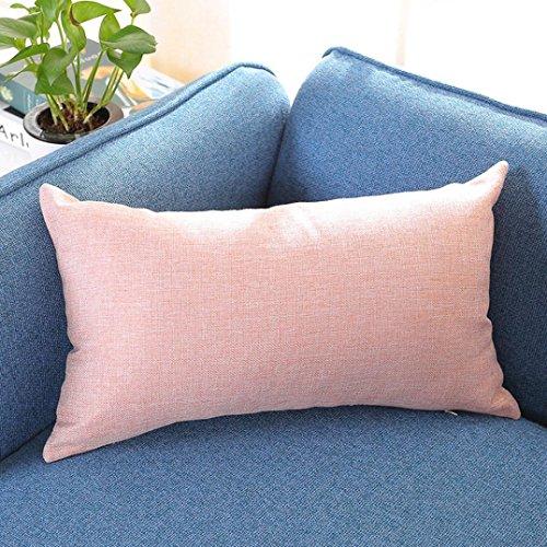 30cm 50cm Pillow Case  HUHU833 Rectangle Cushion Cover Silk Throw Pillow Case  Pink
