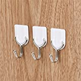 #7: Zollyss 6pcs Strong Adhesive Wall Hanger Hook Plastic Sticking Tile Rack Storage Towel/Keys Holder Hooks Multi Purpose Hangers