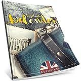 Dékokind® Tagebuch-Kalender: One Line A Day • Ca. A4-Format, Notizseiten & Zitate für jeden Monat • Kalenderbuch, Tagesplaner, Terminkalender • ArtNr. 04 Fernweh • Vintage Softcover