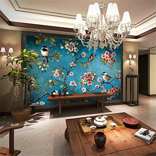 Chinesisches Blumen- und Vogelwandbild der Stereolithographie 3D, Schlafzimmerwohnzimmer neues...