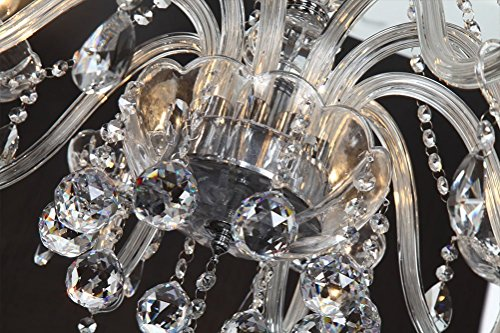Plafoniera Per Sala Da Pranzo : Dst marie therese bracci clear geniune crystal droplet lampada