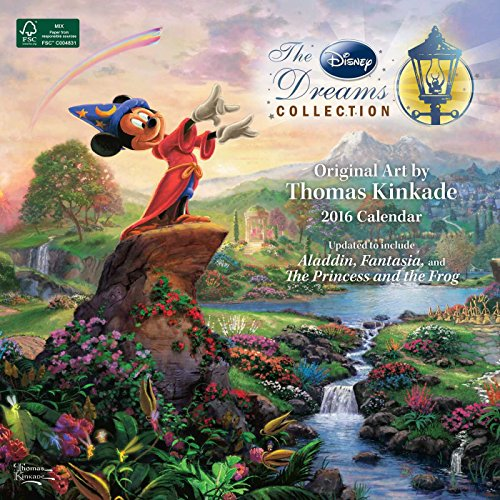 Thomas Kinkade: The Disney Dreams Collection 2016 Wall Calendar -