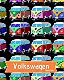 Volkswagen Notebook: Volkswagen Notebook Journal: VW Bus - Lined Composition Journal - VW Bus on top corner of each page - Contents Page - Numbered Pages