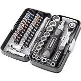 38 قطعة ميني سقاطة مجموعة مفتاح 1/4 بوصة المقبس المسمار قطع عدة إصلاح الدراجة أداة اليد