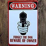 YOMIA Warning Gun Poster Vintage Metall Blechschilder Wandschilder Metallmalerei Wandkunst Man Cave Garage Gewehrhunting Cabin Bar Wanddekoration