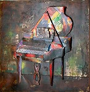 Gilde métal tableau pianoforte 38551 (neuf)