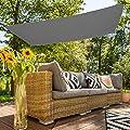 Aktive Sonnensegel für Garten, Polyester, 2x 3m, anthrazit (COLORBABY 53918) von ColorBaby bei Gartenmöbel von Du und Dein Garten