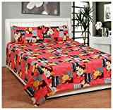 BSB Trendz Cotton Double Bed Sheet With ...