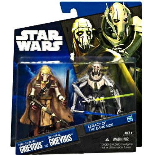 Star Wars Legacy of the Dark Side Pre-Cyborg Grievous to General Grievous Exclusive 2-Pack by Hasbro