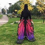 Overdose 197*125CM Frauen Weiche Gewebe Schmetterlings Flügel Schal feenhafte Damen Nymphe Pixie Kostüm Zusatz (197*125CM, Hot Pink) - 5