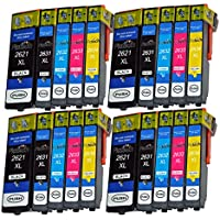 Pictech Compatible Ink Cartridges for Epson Expression Premium XP-620 Printer - Replacement for Epson 26XL Ink Cartridges (4 Sets (20 Pack)