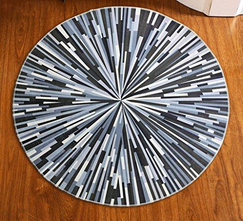 CYJZ® Teppich, runder Teppich Nordic modern Einfaches Schlafzimmer Wohnzimmer Nachttisch Teppich Eingang Basket Studie Computer Stuhl Drehstuhl Pad Atmungsaktiv gegen Verschmutzung ( größe : 100*100cm ) (Rechteckige Stuhl Moderne)