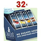 Cavalier Fruity chocolate Assortis sans sucre 32 x 40g Packung (verschiedene Schokoladensorten mit fruchtiger Creme)