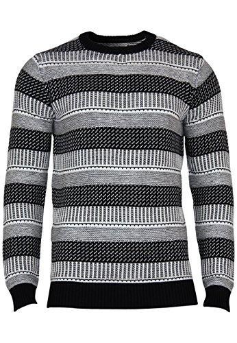 Jack & Jones Pullover Jjorkic encolure ras du cou en tricot Black