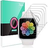 TOCOL 6 Piezas Protector de Pantalla para Apple Watch Series 6 5 4 44mm y Apple Watch Series 3 2 1 42mm HD Clear Soft TPU Fil