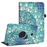Fintie Hülle für Samsung Galaxy Tab A 10,1 Zoll T580N / T585N Tablet - 360°Drehbarer Stand Cover Case Schutzhülle Tasche Etui mit Ständerfunktion Auto Schlaf/Wach Funktion, smaragdblau