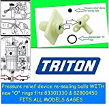 Triton electric shower leaking? Pressure Relief Device (PRD) re-sealing rubber balls *SIX* off use with ALL Triton electric showers valves including 82800450 & 83301330