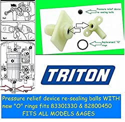 Triton electric shower leaking? Pressure Relief Device (PRD) repair kits *SIX* repair kits fits ALL electric showers valves including 82800450 & 83301330