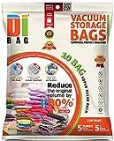 Vakuumbeutel - Vakuum Aufbewahrungsbeutel - 10 Vakuum Kleiderbeutel - Beutelgröße: Jumbo & Groß - Kompressionsbeutel zur Aufbewahrung von Kleidung , Bettdecken , Reise , Bettwäsche , Kissen - DIBAG -