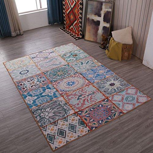 SESO UK Klassische europäische Retro Teppichkunst Rutschfester Großer Teppich für Wohnzimmerschlafzimmer (Größe : 160X230cm)