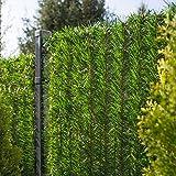 FairyTrees Sichtschutz Garten Zaunblende, GreenFences Hecke, Kiefernoptik Hellgrün, PVC, Höhe 100cm, 5m