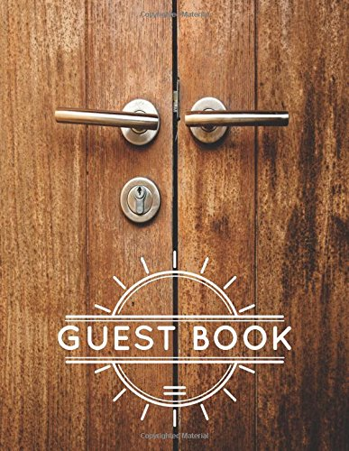 Guest Book: For AirBnB, Vacation Rentals, Carbin, Hotel, Lake House 8.5x11