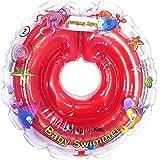 Baby Schwimmer Tüv GS Halsschwimmring Gr. 6-36 kg (0-36 Monate) Schwimmhilfe für Baby Schwimmring Badehilfe Schwimmtrainer in Rot