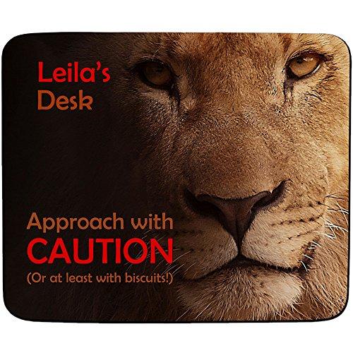 Dolly'Schreibtisch Ansatz (mit Vorsicht oder Kekse, Löwe, Buchse-Premium-Mousepad 5 mm dick (Schreibtisch Dolly)
