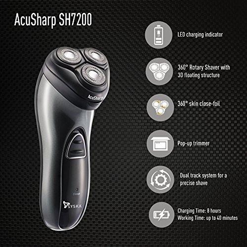 Syska SH7200 Shaver (Black)