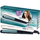 Remington Shine Therapy Plancha de Pelo - Cerámica Avanzada, Aceite de Argán, Resultados Profesionales, Digital, Blanco - S85