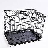 Bild: Hundekäfig faltbar Größe S Abmessungen 61 x 42 x 485 cm Farbe schwarz Transportbox Transportkäfig Drahtkäfig Hundebox Käfig