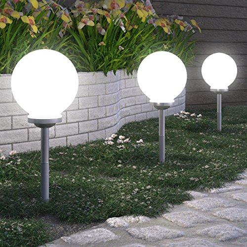 Faretti Da Giardino A Energia Solare.Luci Led Da Giardino 15 25 E 30 Cm Ad Energia Solare