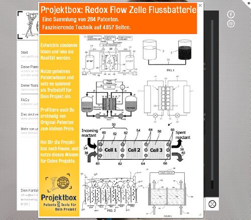Redox Flow Zelle Flussbatterie: Deine Projektbox inkl. 284 Original-Patenten bringt Dich mit Spaß hinter die Geheimnisse der Technik! (Flow-zelle)