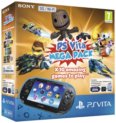NEW! Sony PS Vita Wi-Fi & 3G Console Mega Pack Bundle 16Gb Memory Card 10x Games - Ps Sony Vita Bundle
