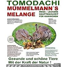 Kaninchenfutter natürlich, Hasenfutter pelletfrei - Gemüse, Getreide und Kräuter, leckeres buntes Alleinfutter für Kaninchen, Nagerfuttermischung mit Möhrenflocken, Erbsenflocken, Erdnüssen, Sonnenblumenkernen, Kardi, Maisflocken, Rabbit Rundum-Sorglos Futtermischung Tomodachi Mümmelmanns Melange 15kg Sack