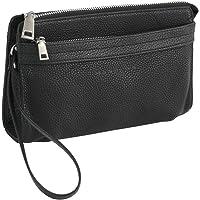 HAROLD'S Echtleder Handgelenktasche mit abnehmbarer Schlaufe - praktische Herren-Handtasche aus weichem, hochwertigem…