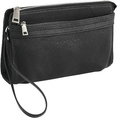 HAROLD'S Echtleder Handgelenktasche mit abnehmbarer Schlaufe - praktische Herren-Handtasche aus weichem, hochwertigem Leder