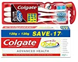 #7: Colgate Total Advanced Health Toothpaste - 240 g with 360 Toothbrush (Buy 2 Get 1 Free)