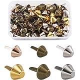 PandaHall Lot de 120 clous en métal pour sac à main, sac à main, sac à main, artisanat en cuir