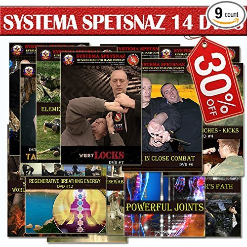 RUSSIAN MARTIAL ARTS TRAINING DVDS - Russian Systema Spetsnaz 14 DVD set - Hand to Hand Combat Instructional DVDs to Learn Self-Defense at Home