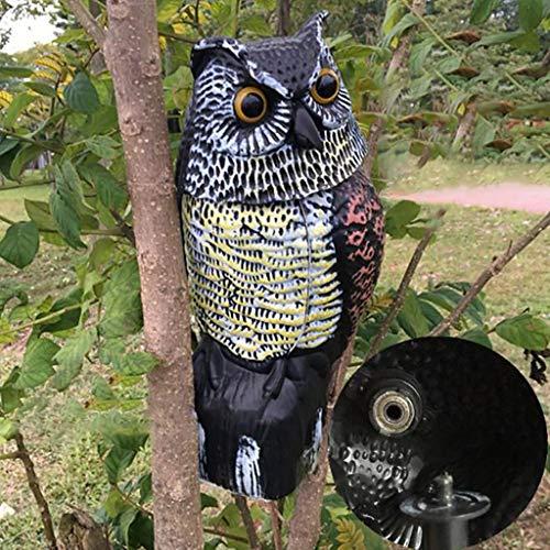 Gaddrt Decorazione Del Giardino Simulation Owl Garden Decoration Drives Mouse Imitazione Di Uccelli Finti