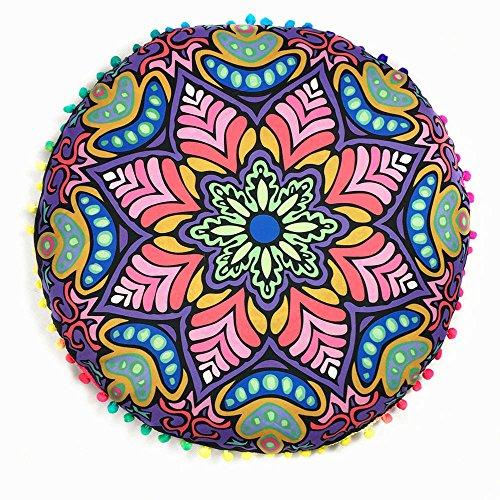 Federe,WINWINTOM Copertura Indiana Mandala Floor Cuscini Rotonda Bohemian Pillow,Porpora