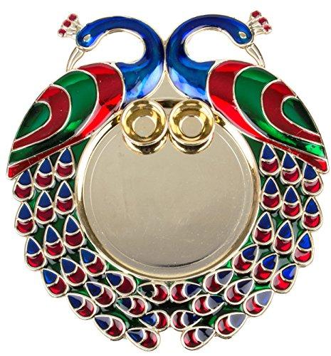 Bombay Haat Designer Golden Pooja Thali / Rakhi Platter /Engagement Ring Platter...
