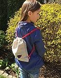 Personalisierte Mini Leinen Turnbeutel für Kinder Kleiner Rucksack Minimalistischer Stil Schuhbeutel Für Spielzeug oder kleine Snacks Vogel Applikation