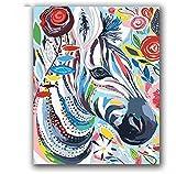 XIGZI Coloré Vache Peinture Abstraite par Nombre d'animaux sur Toile Dessin Coloriage par Nombres avec Paquet De Peinture pour Hoom Décoration 40X50 CM,sans Cadre,I