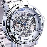 Soleasy 2014 Marca de Lujo mec¨¢nico esquel¨¦tico Hombres de acero inoxidable reloj de pulsera...