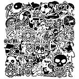 Modou Autocollants [120 pcs], Noir Blanc Graffiti Vinyle Autocollants pour Ordinateur Portable Voitures Moto vélo Skateboard Bagages Pare-Chocs