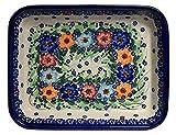 Tradicional de cerámica polaca, lasaña, rectangular